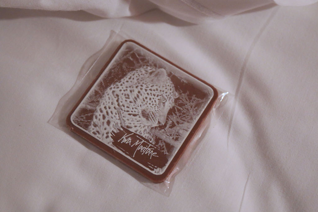 Chocolate on pillow