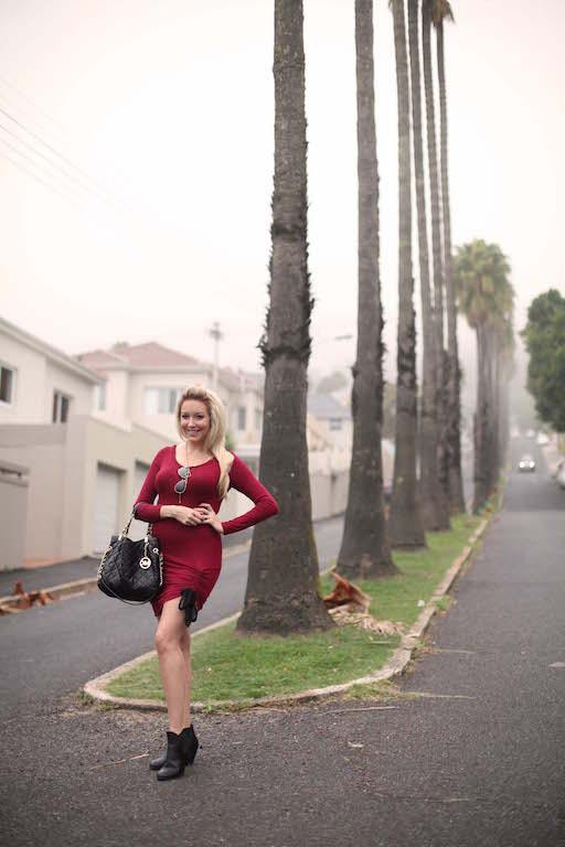 Bailey Schneider Label Maroon dress