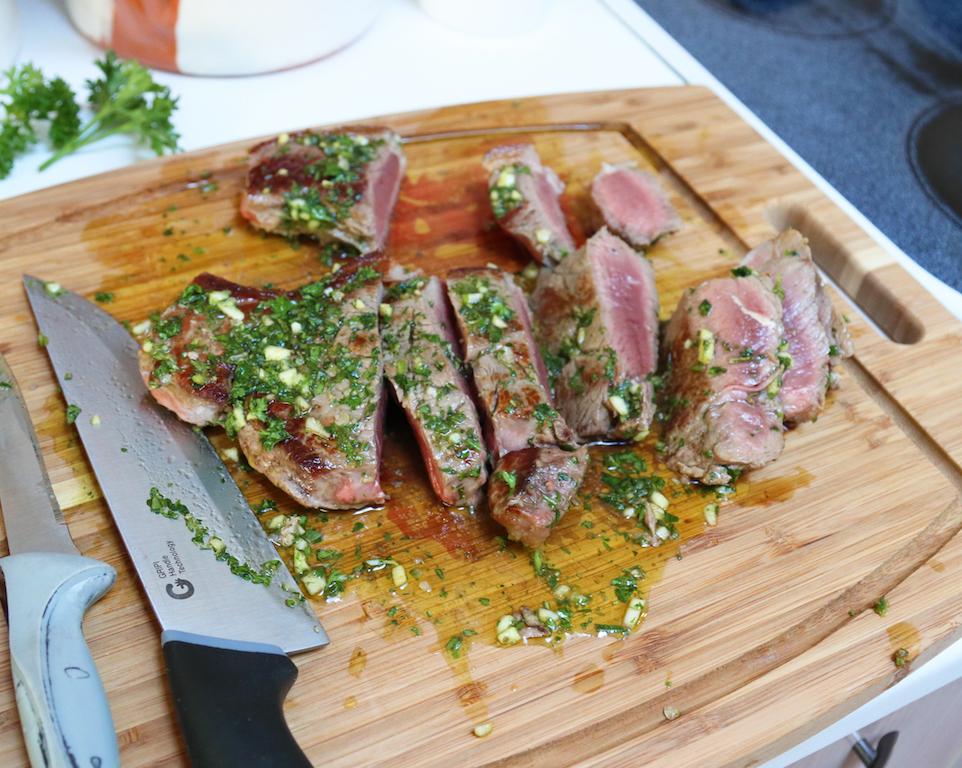 Steak and fresh herbs