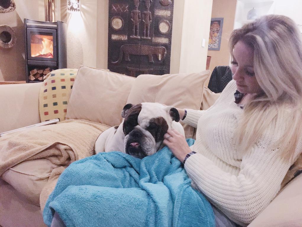 Duke cuddles