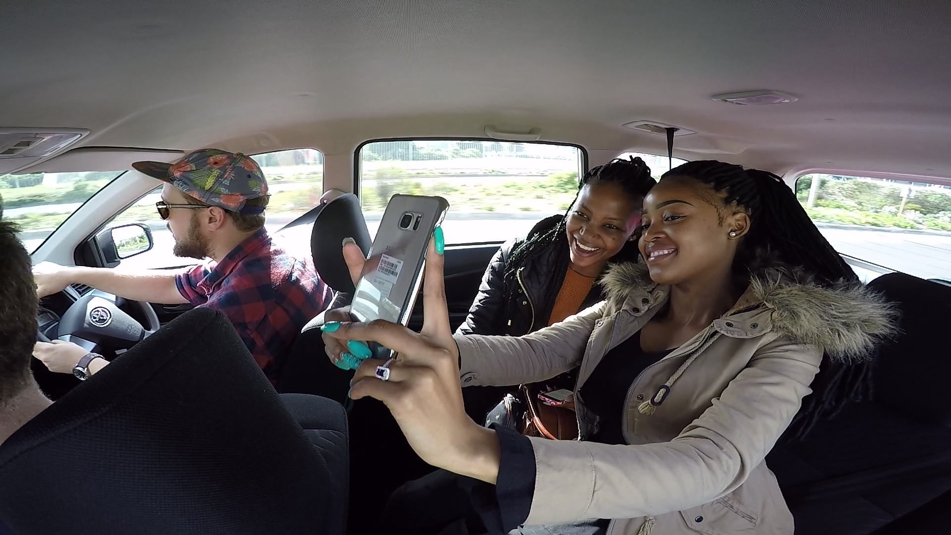 Girls in Car GoPRO4 2
