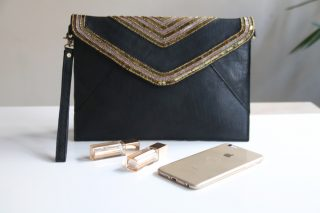 Ris Clutch Leather