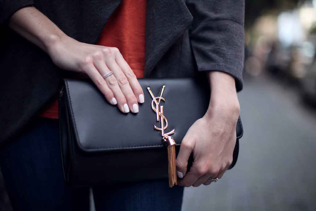 YSL clutch Bailey Schneider