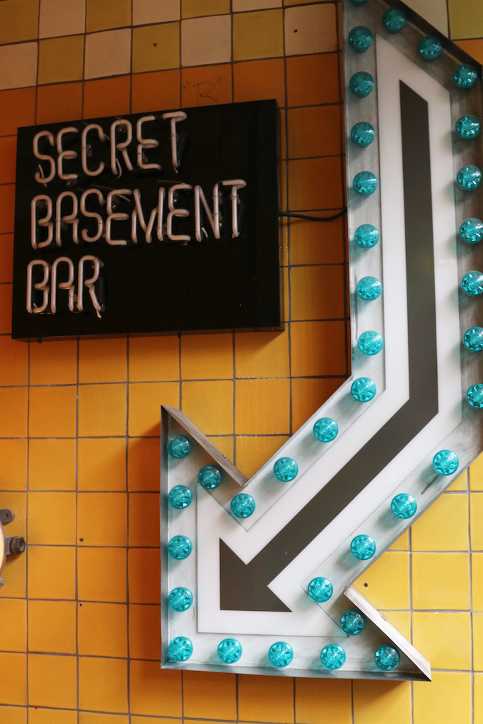 Jamie Oliver Secret Basement Bar Sign copy
