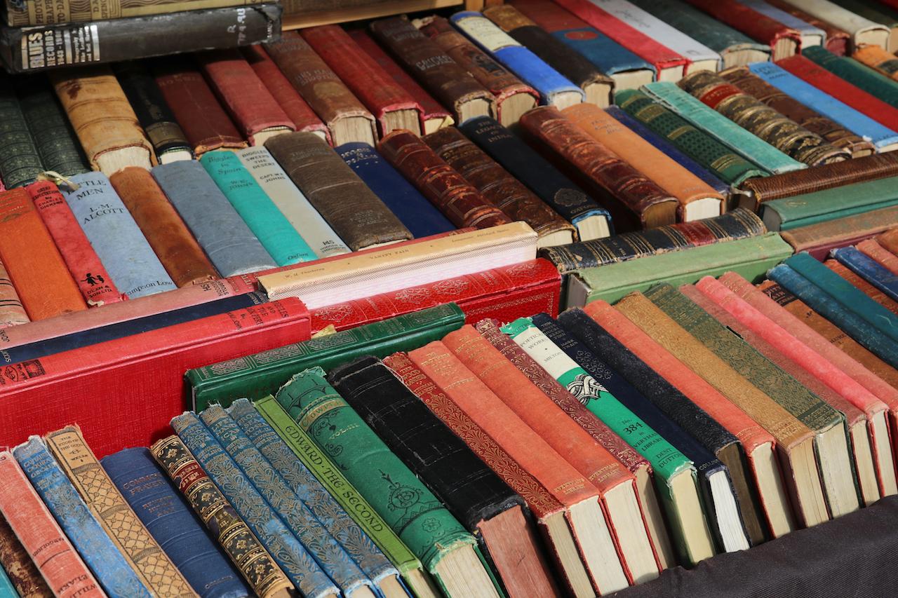Second hand books at Portobella Market copy