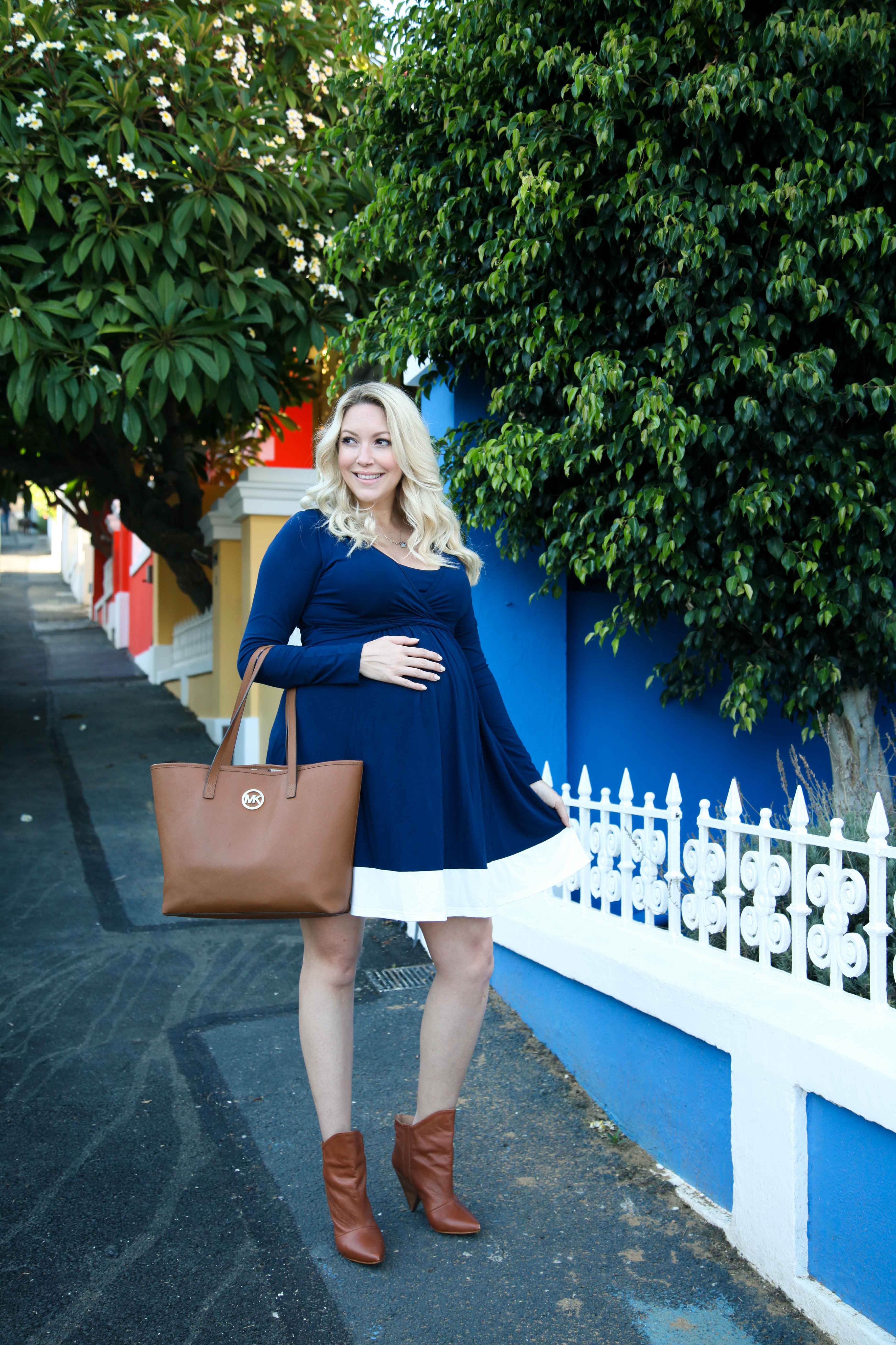 889d504fa86d1 Vanilla Blonde - Lonzi&Bean UltiMum Maternity Dress